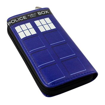 American Film Doctor Who Cartoon Wallet Telephone Booth Printing Pu Leather Money Bag Long Wallets Cosplay Credit Card Clutch