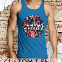 Vampire Weekend Floral Men Tanktop - Lzi Tanktop For Men  / Custom - Tanktop / Men Tanktop
