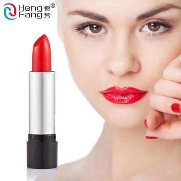 2pcs/Set HengFang brand Makeup lipstick moisturizer long-lasting  waterproof black-big red lipsticks Lip Gloss batom