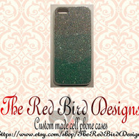 Glitter Sparkly Teal Ombre iPhone 4/4S OR 5 Cell Phone Case