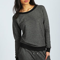 Hannah Knitted Loopback Sweat Top
