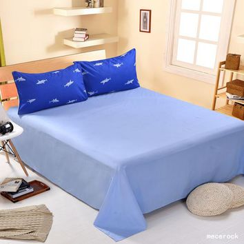 Cotton Blend Luxury Flat Sheet Solid Color Twin/Full/Queen/King Size