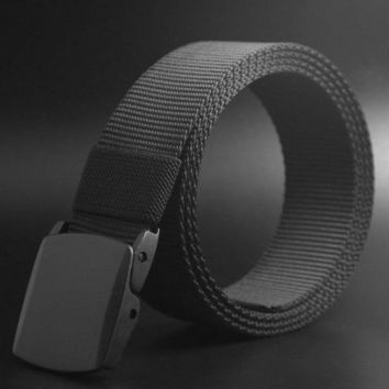 Men Fashion Belts Outdoor Sports Military Tactical Nylon Waistband Canvas Web Belt Hot Sale