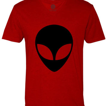 Alien (Black) Short-Sleeve V-Neck T-Shirt