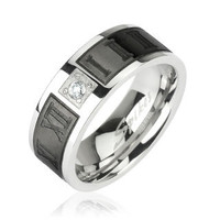 "Stainless Steel Ring, Mens Stainless Steel Ring, ""FREE ENGRAVING"", Stainless Steel Band, R-H1655"