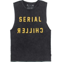 Vanguard Serial Chiller Muscle Tank Top - Mens Tee - Black