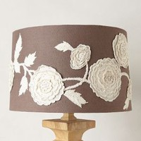 Blossom Applique Lamp Shade by Anthropologie Grey
