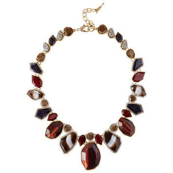 Rebel Red Tiger Eye Statement Necklace
