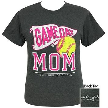 Girlie Girl Originals Preppy Softball Game Day Mom T-Shirt