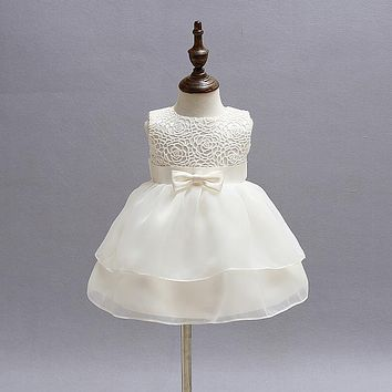 Princess Baby Dress for Party Wedding Baptism Dress White 1st Birthday Outfits Lace Chritsening Gown Toddler Girl Age 2 Year Old