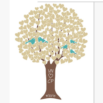 Art Print: Custom Family Love Tree (Custom Colors)