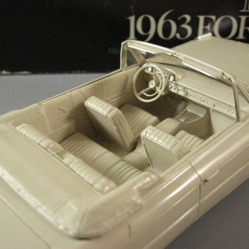 1963 Ford Galaxie Convertible Dealer Promo Model Car // American Automotive Advertising Swag // from Successionary