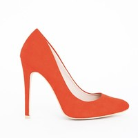 Missguided - Isabel Pointed Stiletto Court Heels Burnt Orange