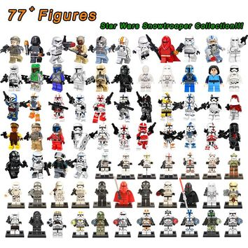 50Pc/Lot Legoings Star Wars Imperial Stormtrooper Clone Troopers Shock Storm Sand Death Snowtrooper Legoingly Building Blocks