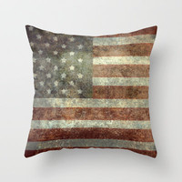 """Old Glory"", The Star-Spangled Banner Throw Pillow by Bruce Stanfield"