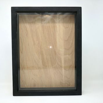 "Wooden Shadow Box Wine Cork/Bottle Cap Holder 11""x14"" - Blank No Saying - 12"