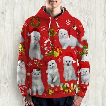 CAT ALL OVER PRINT HOODIE - HD021PA