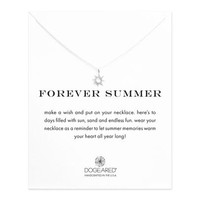 forever summer radiant sun necklace, sterling silver - Dogeared