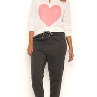 Plus Size French Terry Jogger Pants with Side Quilting Detail