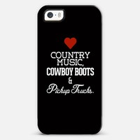 Love Country Music, Cowboy Boots and Pickup Trucks iPhone 5s case by Rex Lambo | Casetagram