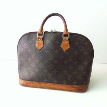 ESBYD9 Vintage Authentic Louis Vuitton Alma Bag