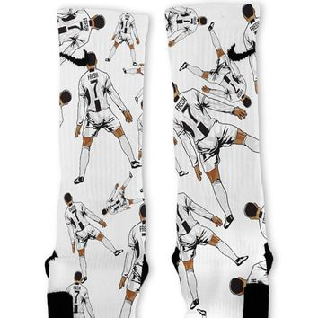 Ronaldo Juventus Custom Nike Elite Socks