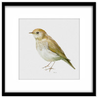 Printable Art, Song Thrush Instant Download, Young Bird Printable Poster, Bird Art, Wall Art