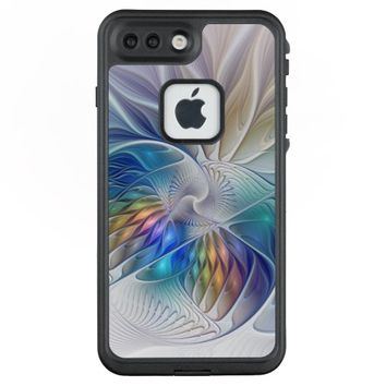 Floral Fantasy, Colorful Abstract Fractal Flower LifeProof® FRĒ® iPhone 7 Plus Case