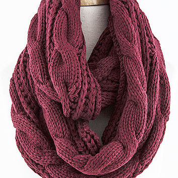 Berry Cable Scarf