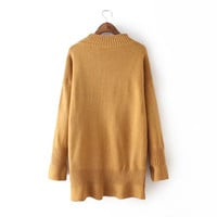 Winter Knit Pullover Sweater [6512933575]