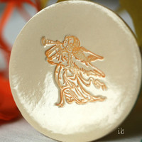 Angel Ceramic Plate, Religious Christmas Gift, Pottery Ring Dish, Angel Xmas Gift, Holliday Home Decor, Small Round Plate, Christian Gift