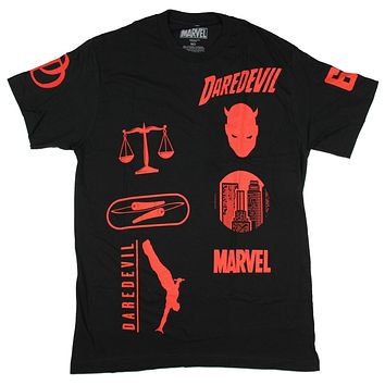 Marvel Daredevil Motocross Design Men's T-Shirt
