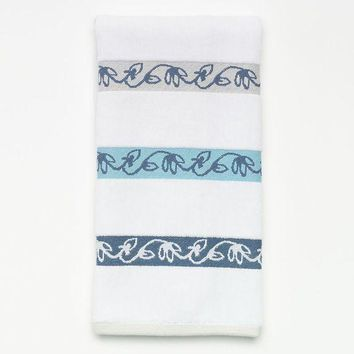 CREY7GX SONOMA life style Petaluma Decorative Dobbies Hand Towel (White)
