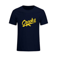 Crooks And Castles Logo Printed T Shirts Mens Cotton O Neck Tops Tees Hip Hop Streetwear Summer Fashion Sporting Suits For Men