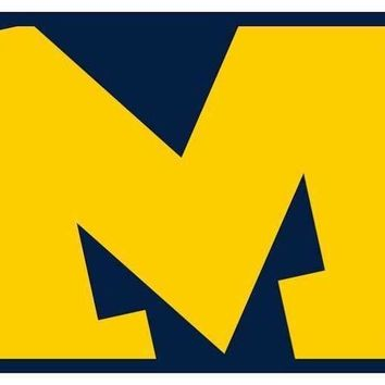 Michigan Wolverines License Plate Mega Logo NCAA Front Plate