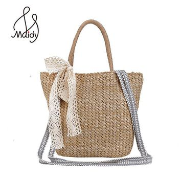 New Fashion Woven Shoulder Handbags Women Bags Designer Straw Summer Fashion Clutch Ladies Tote Bag Weaved Shopping Beach Purse