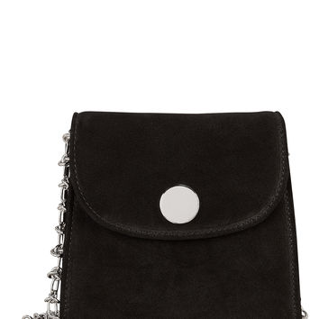 D Tiny Box Suede Shoulder Bag
