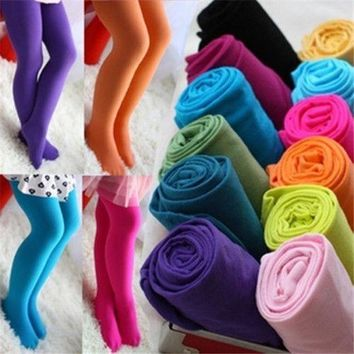 GIRLS KIDS OPAQUE BALLET DANCE TIGHTS PANTYHOSE STOCKINGS VELET CHILDREN GIRL HOSIERY S M L