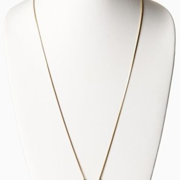 Navy Blue Stone Geometric Long Necklace