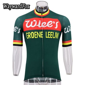 NEW Green vintage jersey Men's short sleeve cycling jersey retro cycling clothing Bicycle Wear