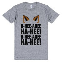 The Fox Says...-Unisex Athletic Grey T-Shirt