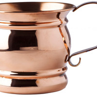 Solid Copper Moscow Mule w/ Flat Handle, Moscow Mule Mugs
