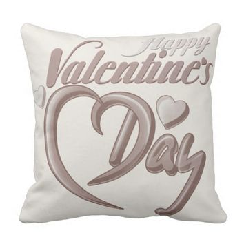 Vintage Burnished Valentine's Day Throw Pillow