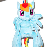 Mighty Fine Rainbow Dash Backpack Light Blue One