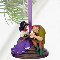 Disney Store 2016 Quasimodo Esmeralda Sketchbook Christmas Ornament New w Tags