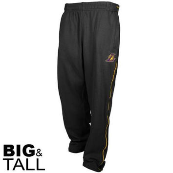 Los Angeles Lakers Big & Tall Kobe Tricot Pants - Black