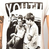 Criminal Damage T-Shirt With Youth Print at asos.com