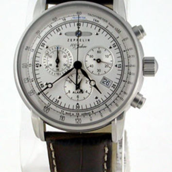 Graf Zeppelin 100 Years Alarm Chronograph Watch 7680-1