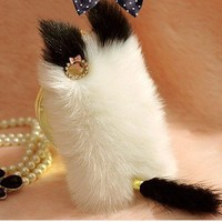 Cute Cat Fluffy Style Fur Case For .. on Luulla
