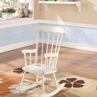 Kloris collection white finish wood children's size rocking chair